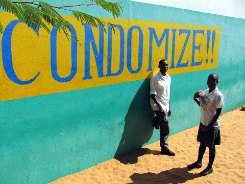 Condomize mural Namibia