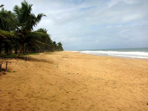 A beach in Ghana, West Africa