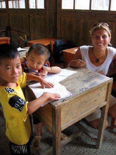 Caz teaching abroad!
