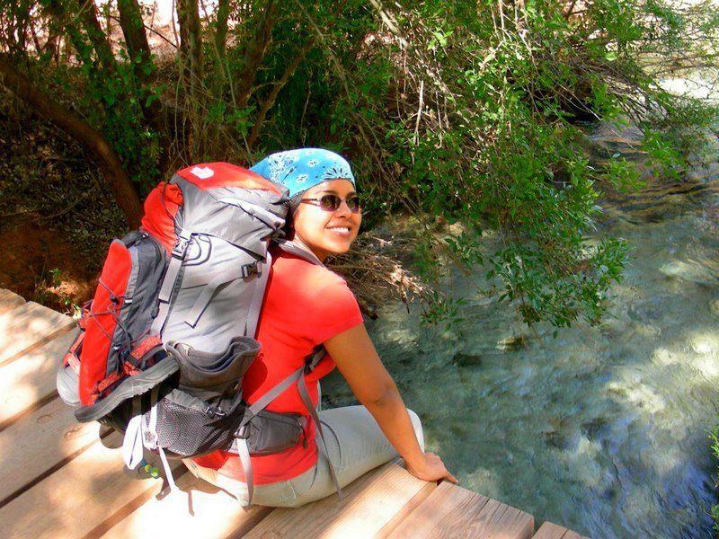 Backpacking in Havasupai Reservation, Arizona.