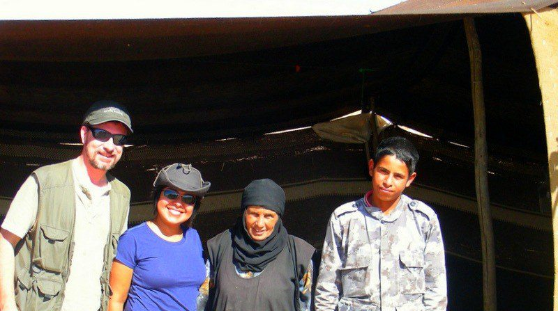 With the Bedouin family in Jordan. What a back-story!