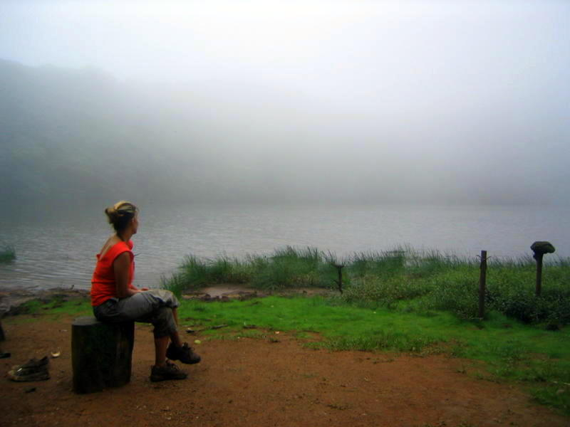 fog at the top of Volcano Maderas in Lake Nicaragua.