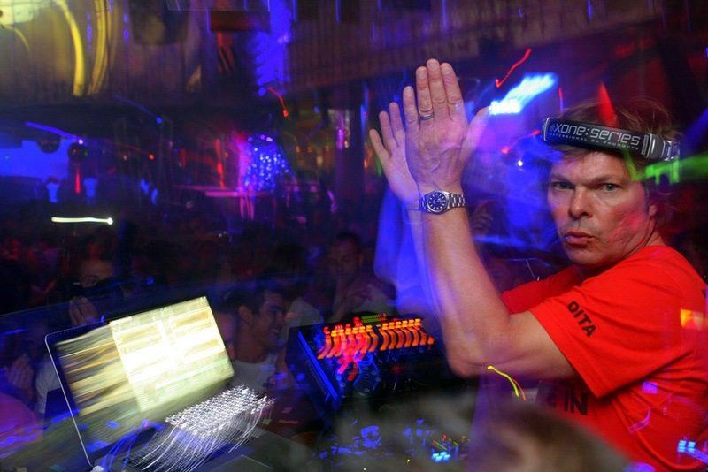 DJ Pete Tong plays at his club in Ibiza, Spain: Wonderland