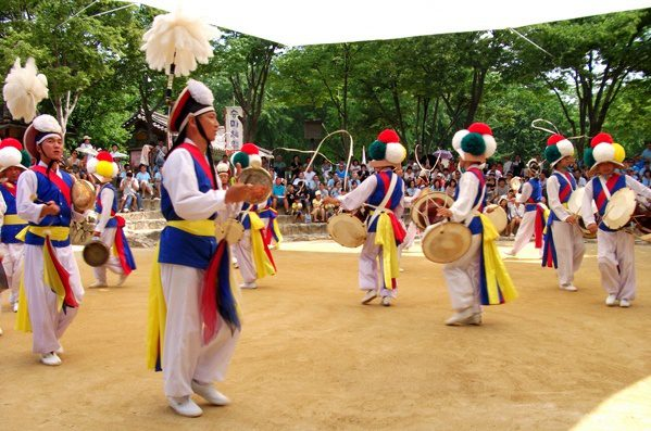 An elaborate demonstration in South Korea.