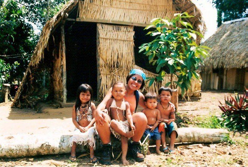 Carla in Amazonas, Brazilwith the Satare Maue tribe and school.