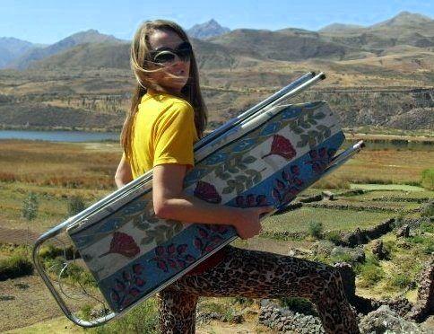 extreme ironing in Peru