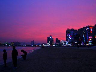 A beautiful South Korea sunset.