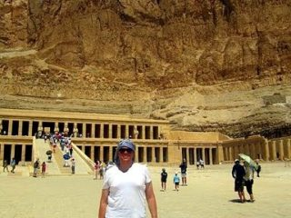Aaron at the Tomb of Queen Hatshepsut in Luxor, Egypt!