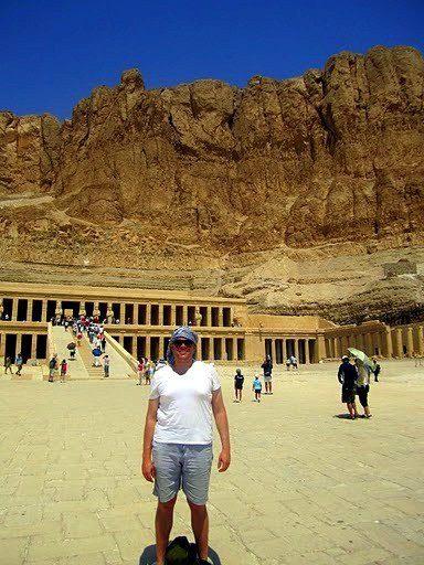 Aaron at the Tomb of Queen Hatshepsut in Luxor, Egypt!
