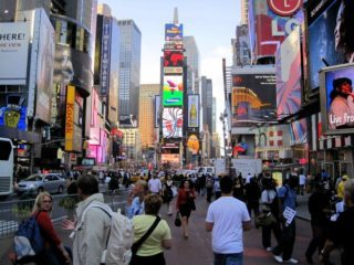Times Square, New York City: A Sea of Cultures!