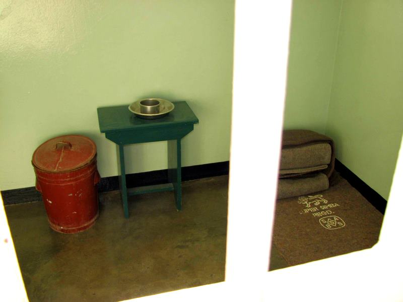 Nelson Mandela's prison cell in South Africa.
