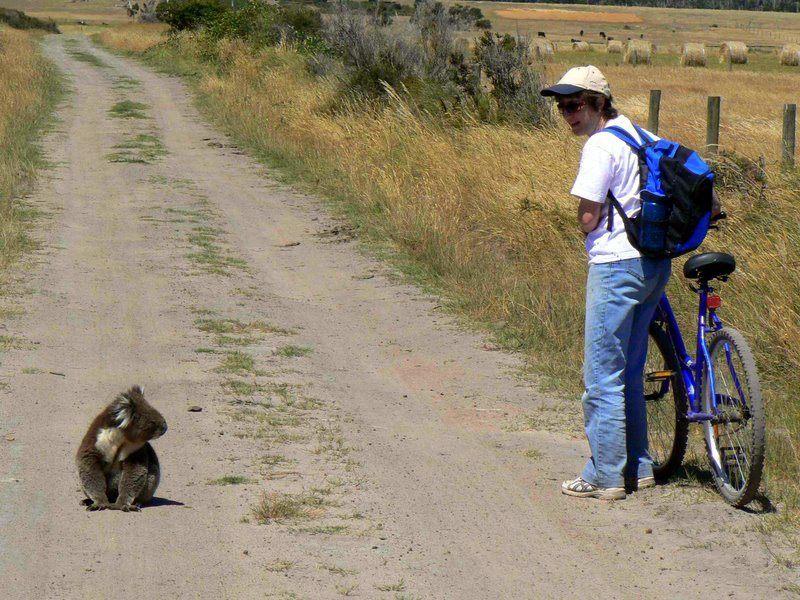 """Randy's caption: """"Marsupial and Wife."""" Ha! The joys of travel."""