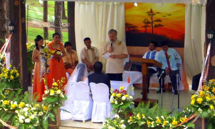Bill officiating a wedding in the Philippines!