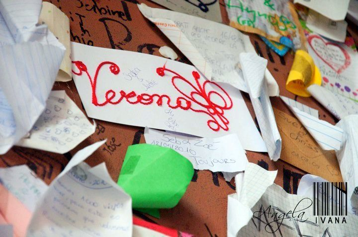 Wall of Love Letters (for Juliet!) in Vernoa, Italy.
