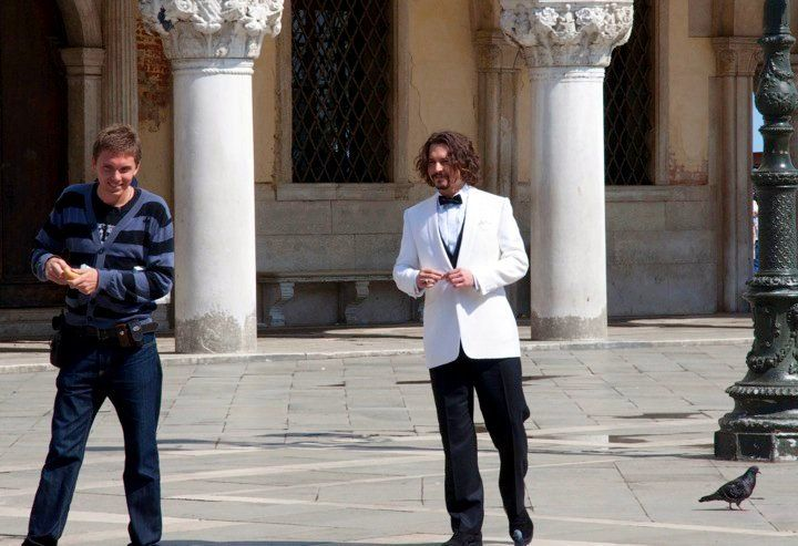 """Angela's photo of Johnny Depp in Italy, filming """"The Tourist."""""""