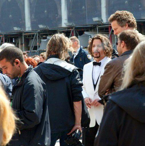 Johnny Depp in Italy!
