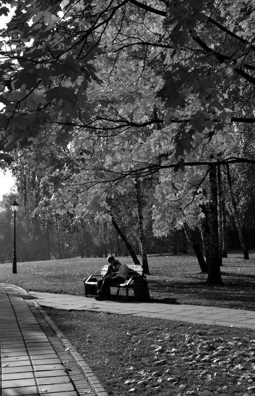 Autumn in Kolomenskoye Park in Moscow's suburbs.