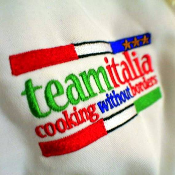 The logo on the chef suits of James's students.
