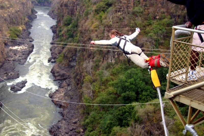 victoria falls bungee. jumping in Victoria Falls,