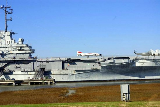 USS Yorktown battleship at Patriots Point, Charleston Harbor.
