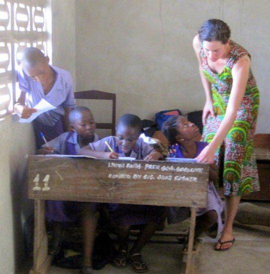 Me teaching in Sogakope, Ghana last year!