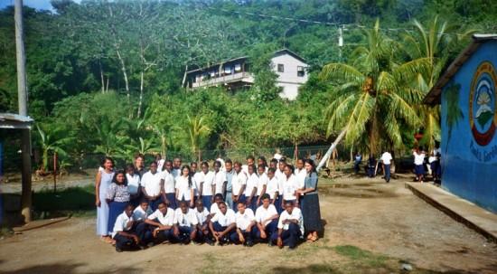 The yearly school photo in Punta Gorda, Honduras.