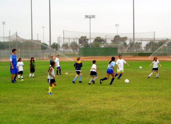 Football (Soccer) coaching in Camarillo, California.
