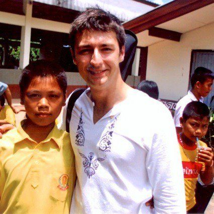 Alex and one of his students in Thailand.