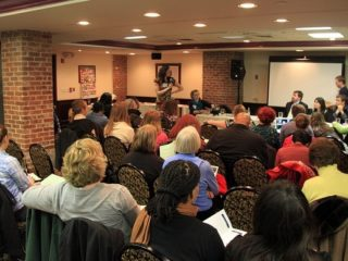 Over 100 people braved the snow for Teaching Traveling Night!