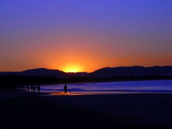 A stunning sunset in Byron Bay, Australia.