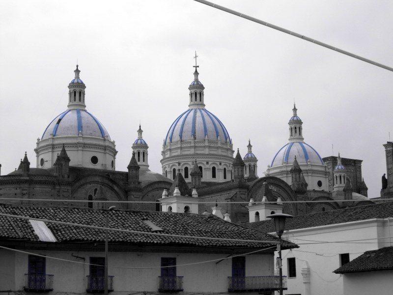 Domes of a church in Cuenca, Ecuador.