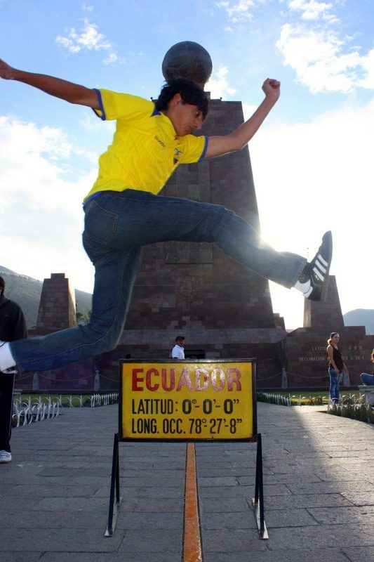 Jumping hemispheres at the center of the earth!