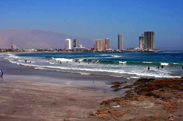The beach in Iquique, Chile. Not a bad view!