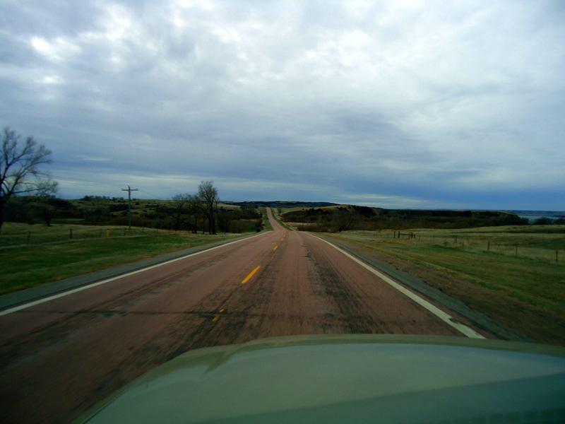 A green, scenic ridge south of Crow Creek on the way to Chamberlain, South Dakota.