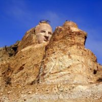 The Crazy Horse monument, conceived to