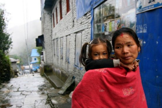 A mother and child in Nepal.