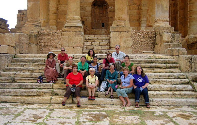 The GEEO Group at historic ruins in Tunsia. Hooray for traveling teachers!