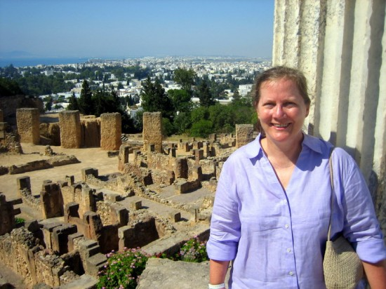Libby at ruins in Carthage, Tunisia.