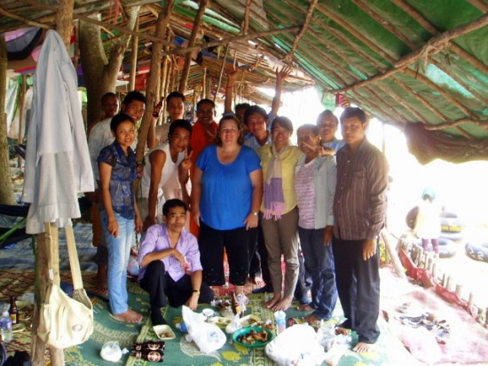 One of Nikki's classes in Cambodia organized a birthday picnic for her on the day before she left in September 2009.