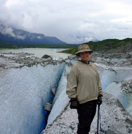 Tracy's honeymoon: Mendenhall Glacier trek, Juneau, Alaska.