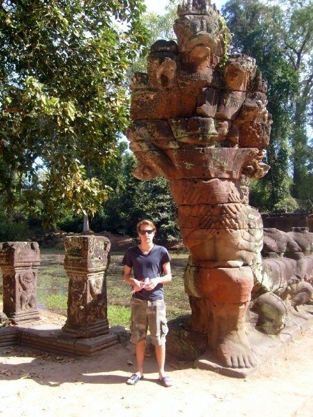 Will sizing up to the temples of Angkor Wat, Cambodia.