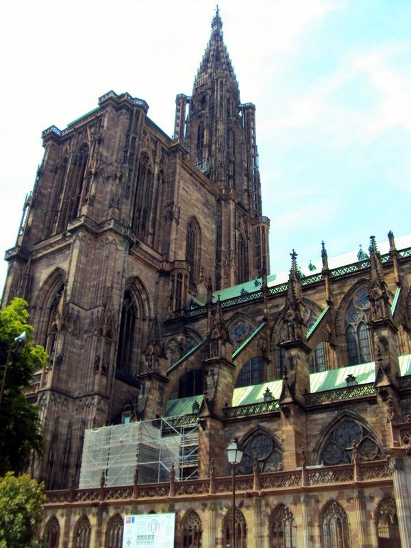 The majestic architecture of Strasbourg, France.