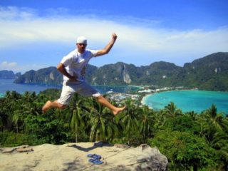 Mike PowerKicking in Ko Phi Phi, Thailand!