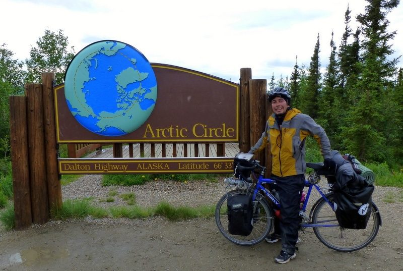 Andres at Prudhoe Bay, by Fairbanks, Alaska. Very, very North!
