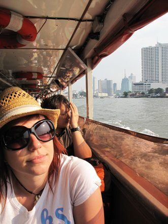 Riverboat fun on Thailand's Chao Praya River.