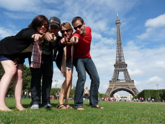 Kristy and friends, frolicking in France.