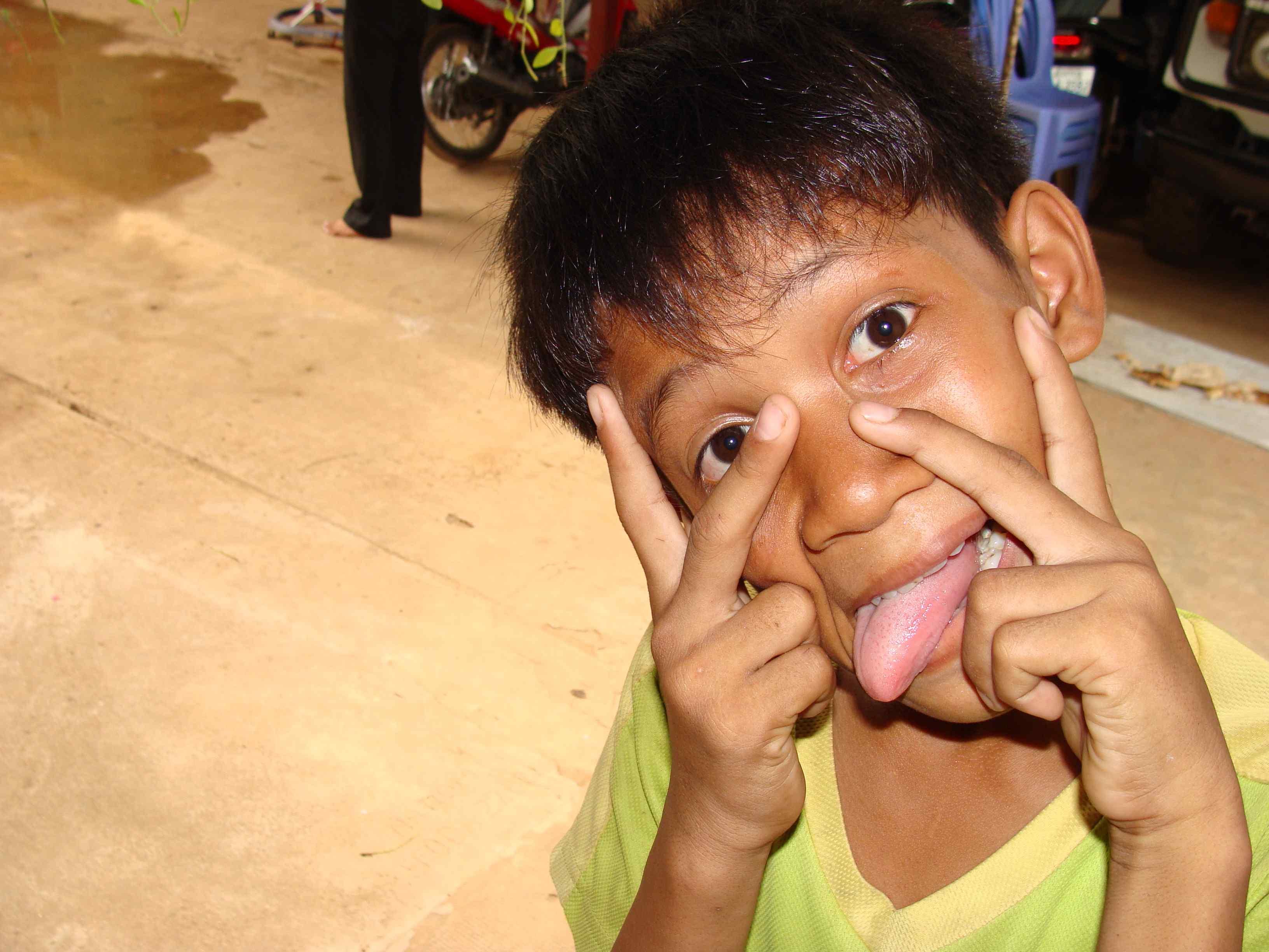 Fun after English class in Cambodia!