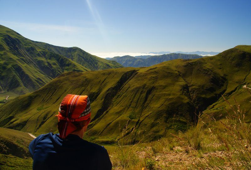 Gazing out at a beautiful vista during nomadic travels.