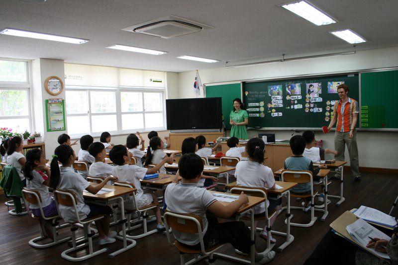 Samuel teaching English in South Korea. Lucrative!