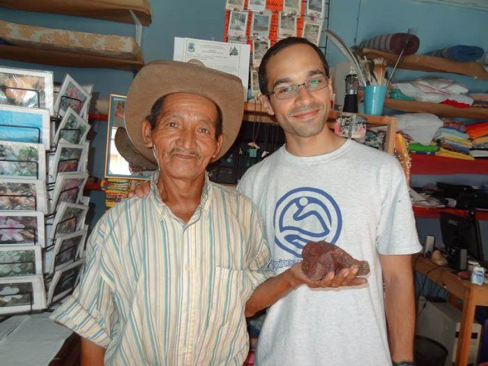 With the rock star and rock seller at the co-op in Honduras!
